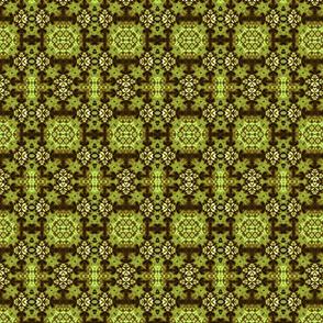 Green Floral Diamond Stars