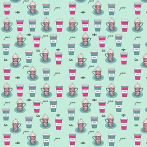 Coffee Brews Mint Pink