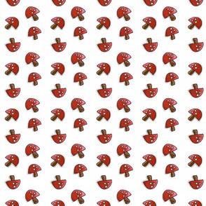 smaller cartoon mushrooms