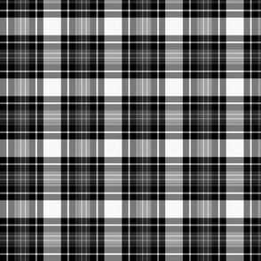 Tartan Plaid | Black & White | Renee Davis