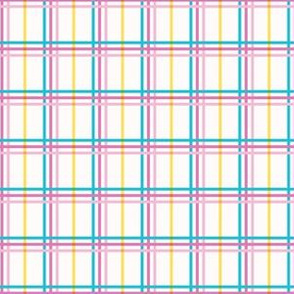 Small summer plaid graphic seamless pattern.