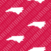 North Carolina State Shape Pattern Stripes  Red-01-01