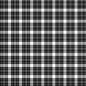 Coal Tartan Plaid | Inverse | Black & White | Renee Davis