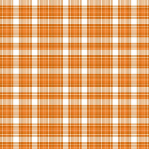 Harvest Tartan Plaid | Burnt Orange & White | Renee Davis