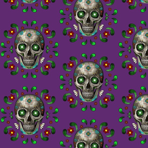 day of the dead violet medium