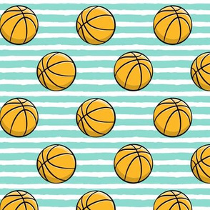 """(1.75"""" scale) Basketball - Teal Stripes - Sports - C19BS"""