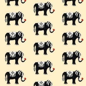 circus elephant pattern