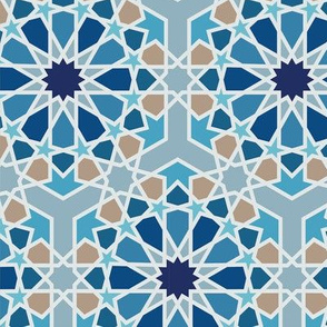 Geometric Islamic Pattern Blue