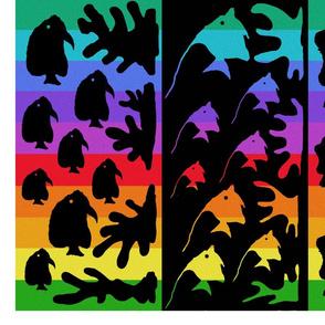 Rainbow fish  one yard cheater quilt