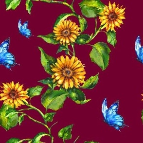 Sunflower Burgundy