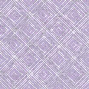 Lavender and White Boho Diamonds