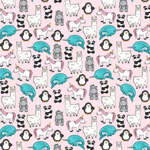 Unicorn and Friends Pink Mini