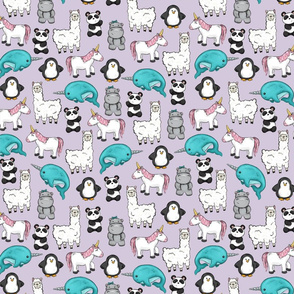 Narwhal and Friends on Purple Mini