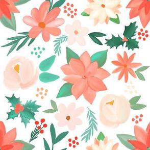 christmas - pastel florals