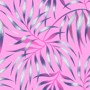 Palm Leaf Coordinate - Pink / Purple