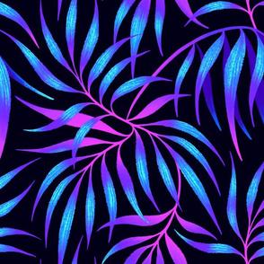 Palm Leaf Coordinate - Blue / Pink