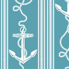 Anchor Rope Ocean Blue
