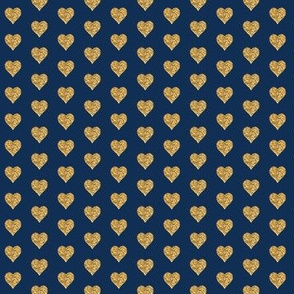 Small Navy Gold Hearts