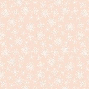 vintage snowflake on peach