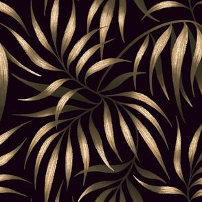 Palm Leaf Coordinate - Gold / Black