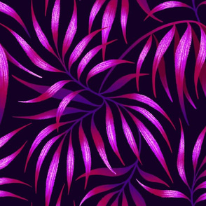 Palm Leaf - Purple
