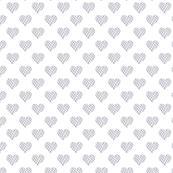 Grey Check Hearts