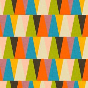 Retro Color Block Triangle Color Happy