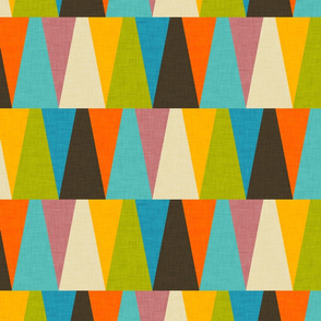 Retro Color Block Triangle Color Fun
