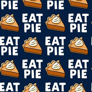 Eat Pie - Pumpkin Pie - navy - LAD19