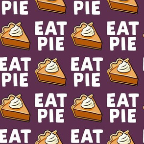 Eat Pie - Pumpkin Pie - plum - LAD19