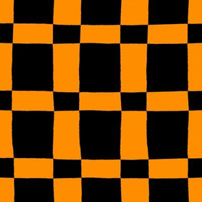 Orange and Black Halloween Plaid