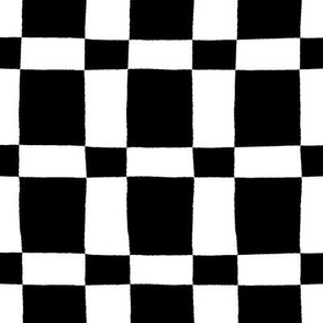 Black and White Jagged Edge Plaid