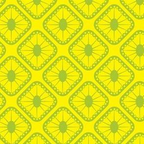 Yellow and Green Sunburst Tiles