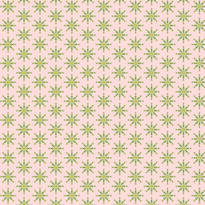 Stars of Spring Flowers on a Whisper of Pink (#2)- Tiny Scale