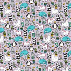Tween Girl Emoji Animal Print, Coffee and Donuts, Narwhals and Unicorns