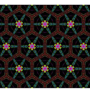 Glowing-Hexagon-Ornament