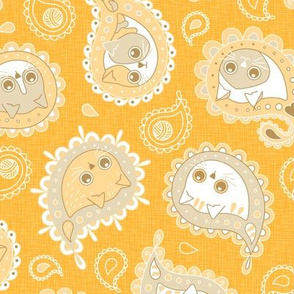 Cat Paisley - Yellow