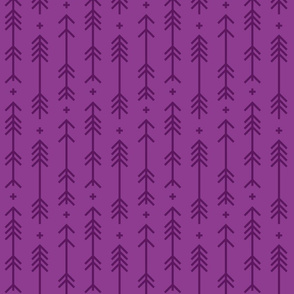 cross + arrows purple grape tone on tone