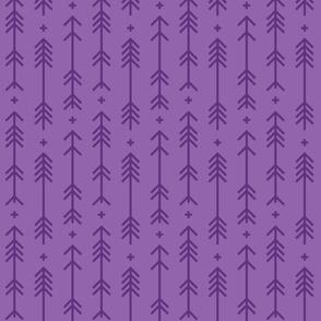 cross + arrows amethyst purple tone on tone