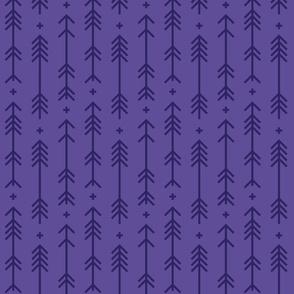 cross + arrows purple tone on tone