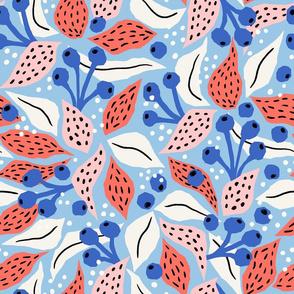 papercut collage light blue