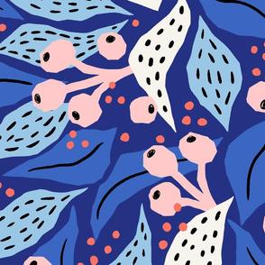 papercut collage blue/jumbo scale