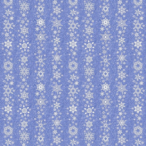 snowflake stripes - geometric on slate blue