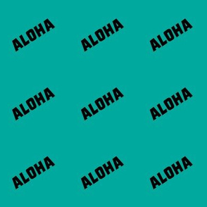aloha on teal