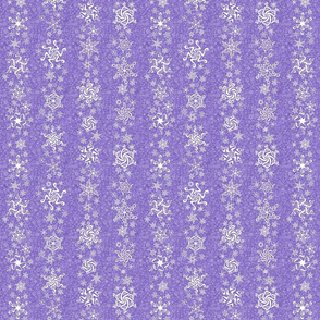 snowflake stripes - swirls on violet wisteria purple