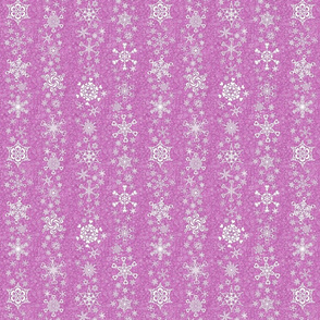 snowflake stripes - hearts on mauve pink