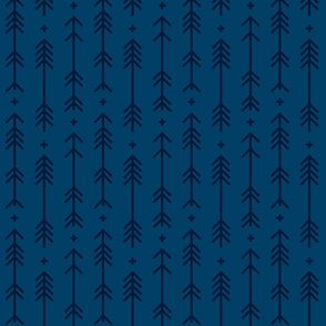 cross + arrows navy blue tone on tone