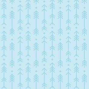 cross + arrows ice blue tone on tone