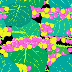 Rotated - Tropical Sea Grapes in Black