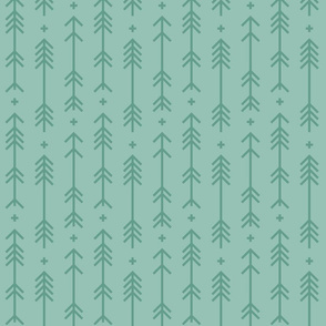 cross + arrows faded teal tone on tone